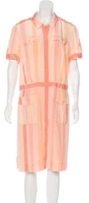 Tory Burch Silk Short Sleeve Midi Dress