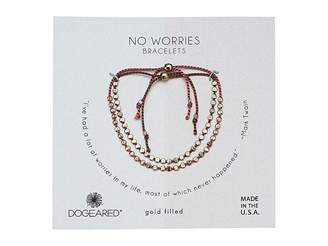 Dogeared No Worries, Set of 2, Flat Bead Silk Bracelets
