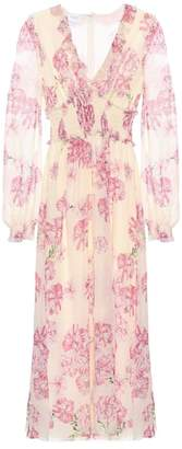 Giambattista Valli Printed silk midi dress