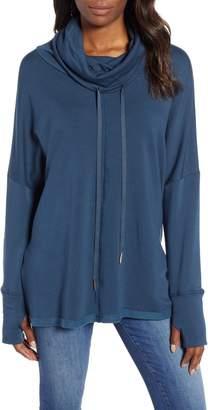 Caslon Off-Duty Funnel Neck Sweatshirt