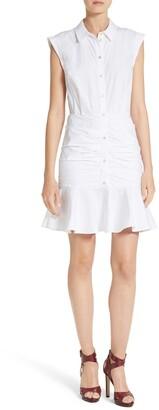 Veronica Beard Bell Ruched Shirtdress