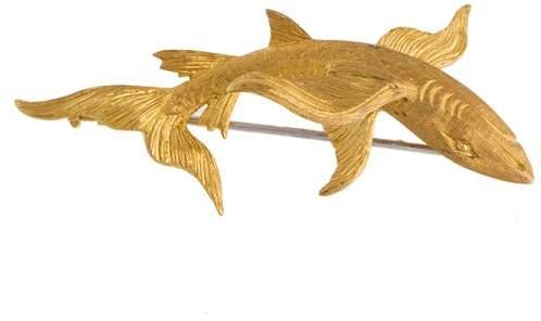 BuccellatiYellow Gold BUCCELLATI Shark Pin Brooch