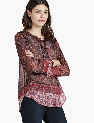 Lucky Brand BORDER RAW EDGE TOP