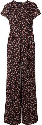 MICHAEL Michael Kors Eden Rose Floral-print Georgette Jumpsuit
