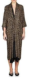 Balenciaga Women's Leopard-Print Layered Midi-Dress - Beige, Tan
