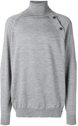 Lanvin turtle neck button jumper