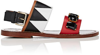 Marni Women's Jewel-Embellished Leather Sandals $590 thestylecure.com
