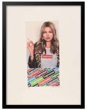 Kate Moss Luxe West Retro Supreme Ad featuring