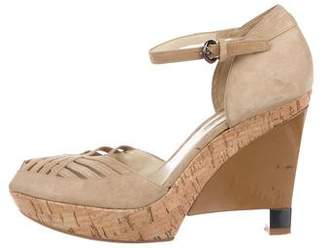 Via Spiga Suede Platform Sandals