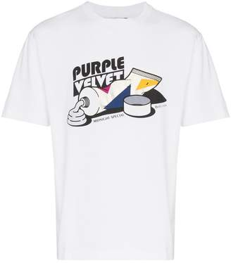 Eytys smith purple velvet t shirt