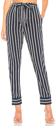 by the way. Nelly Pinstripe Belted Pants