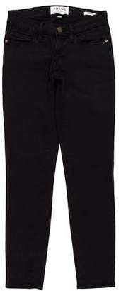 Frame Low-Rise Skinny Pants