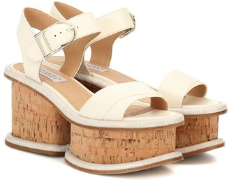 Gabriela Hearst Harrigan leather plateau sandals