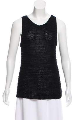 Ralph Lauren Sleeveless Open Knit Top