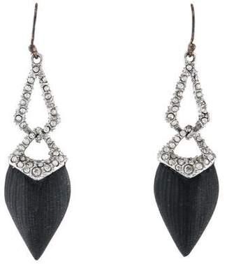 Alexis Bittar Lucite & Crystal Drop Earrings