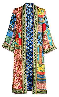Alice + Olivia Women's Lynn Printed Side Slit Long Kimono