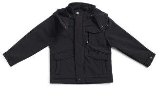 Little Boys Hooded Soft Shell Jacket