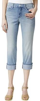 NYDJ Women's Petite Size Dayla Wide Cuff Capri Jeans