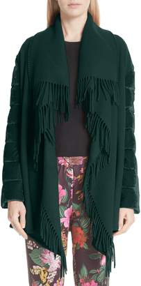 Moncler Mantella Quilted Sleeve Jacket