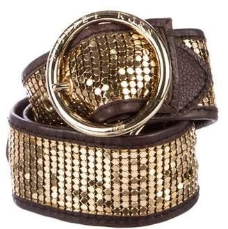 MICHAEL Michael Kors Chainmail Leather Belt