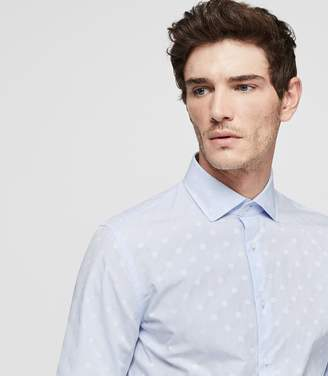 Reiss Gilespie Slim Fit Polka Dot Shirt