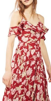 Women's Topshop Floral Off The Shoulder Maxi Dress $95 thestylecure.com