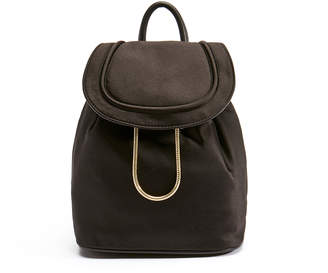 Diane von Furstenberg Black Satin Backpack