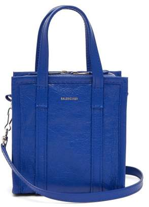 Balenciaga Bazaar Shopper Xxs - Womens - Blue