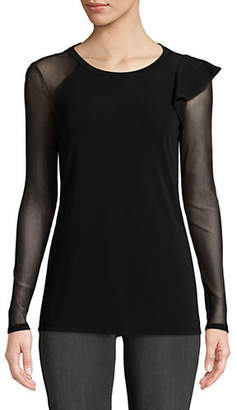 INC International Concepts Long-Sleeve Illusion Top