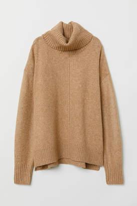 H&M Knit Turtleneck Sweater - Beige