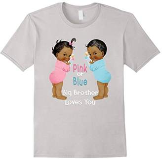 Ethnic Babies Pink or Blue Big Brother Loves You T-Shirts