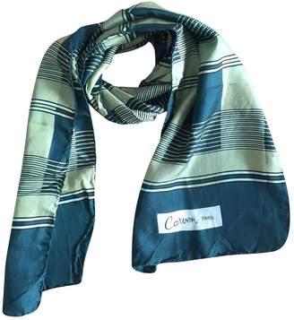 Carven Green Silk Scarves