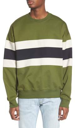 Topman Colorblock Stripe Sweatshirt
