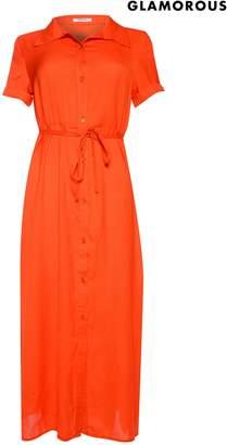 Next Womens Glamorous Button Front Dress