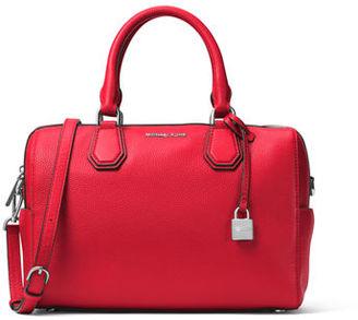 MICHAEL Michael Kors Mercer Medium Leather Duffle Bag $298 thestylecure.com