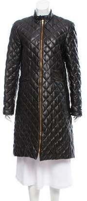Moncler Leather Down Coat