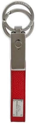 Dolce & Gabbana Textured-leather Keychain