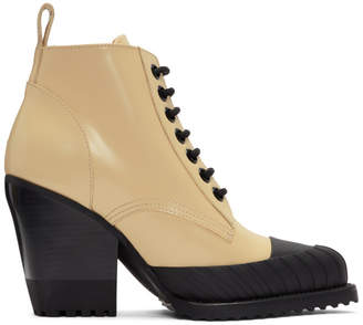 Chloé Yellow Rylee Hiking Boots