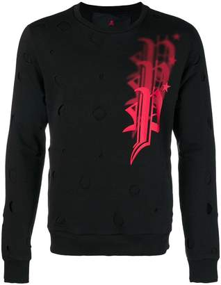Philipp Plein distressed logo sweatshirt