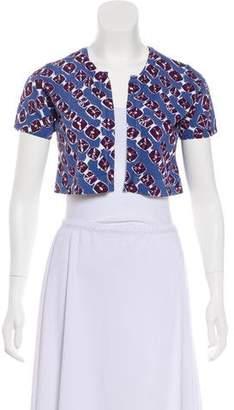 Samantha Sung Printed Knit Cardigan