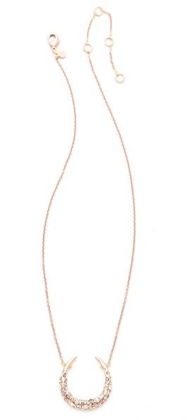Alexis Bittar Crystal Encrusted Horseshoe Necklace