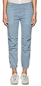 "Nili Lotan Women's ""French Military"" Cotton-Blend Crop Pants-Washed Blue"