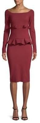 Chiara Boni Ruffle Sheath Dress