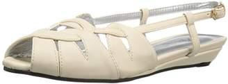 Annie Shoes Women's Kim Wedge Sandal $13.35 thestylecure.com
