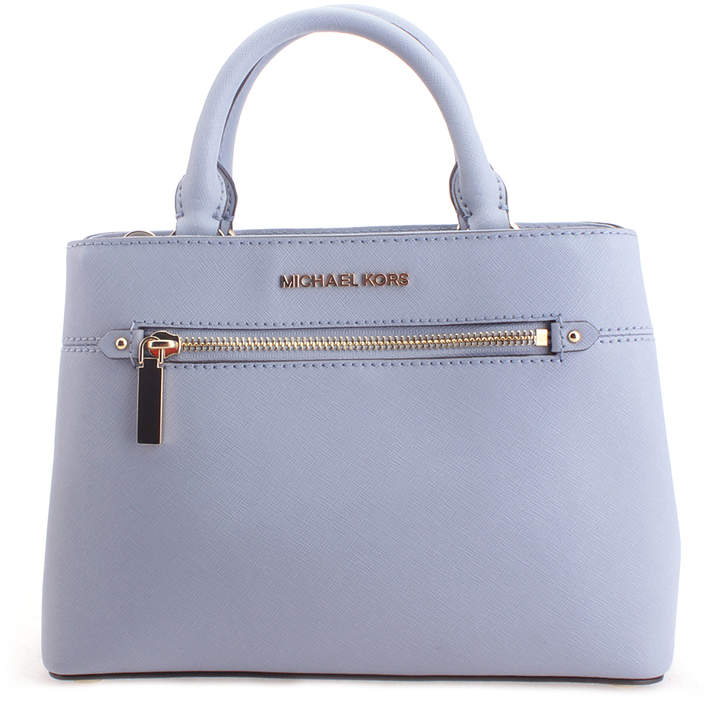 Michael Kors Pale Blue Hailee Leather Satchel - PALE - STYLE