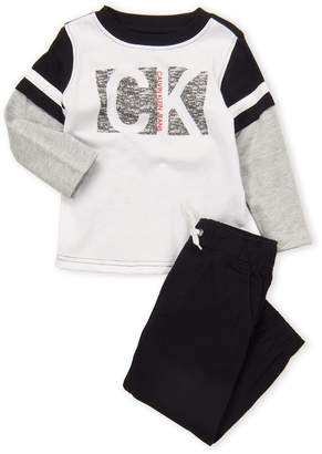 Calvin Klein Jeans Toddler Boys) Two-Piece Long Sleeve Tee & Joggers Set
