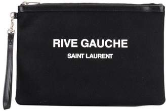 0d0e8306be5 Saint Laurent black logo print pouch black