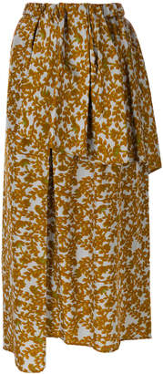 Christian Wijnants layered asymmetric skirt