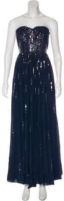 Rebecca Taylor Silk Strapless Maxi Dress