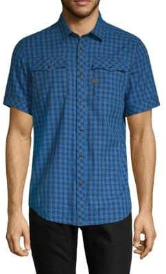 G Star Landoh Checked Button-Down Shirt